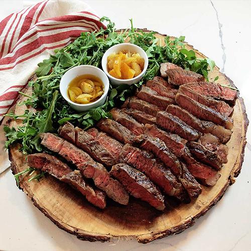 Steak with Preserved Lemons & Garlic